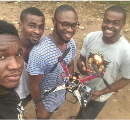 Four FUTO students, successful design a campus surveillance drone