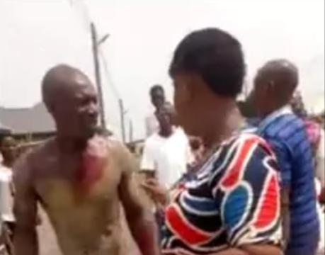 Man Stripped, Beaten Blue Black for Raping A 10-Year-Old Girl In Bayelsa