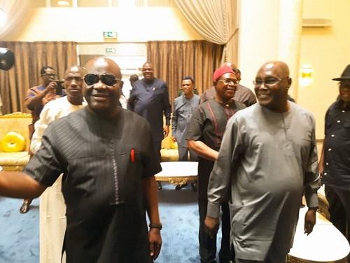 2019 Election: Atiku Abubakar Arrives Rivers State, Meets with Governor Wike