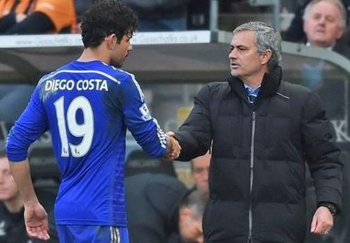 Diego Costa Mocks Nemanja Matic's 'Father & Son' Relationship with Jose Mourinho [Photos]