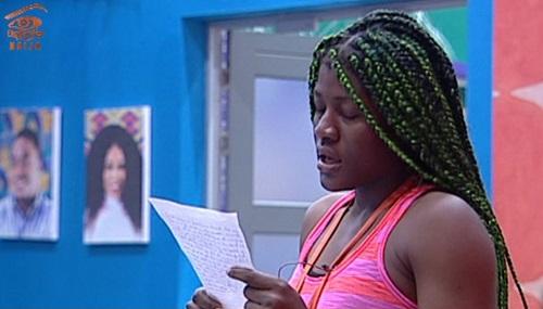 #BBNaija: In tears Alex, finally Apologizes to Cee-c [Video]