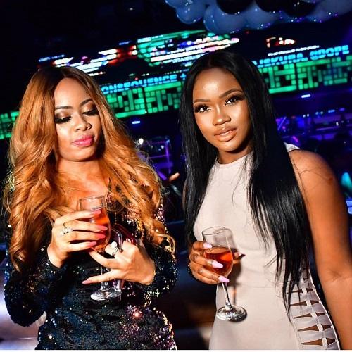 #BBNaija Cee-C and Nina, shades of beauty at homecoming party [photos]