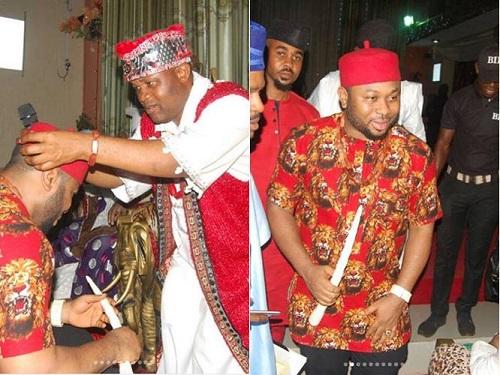 Tonto Dikeh's Estrange Husband, Olakunle Churchill Bags Chieftaincy Title in Enugu [Photos]