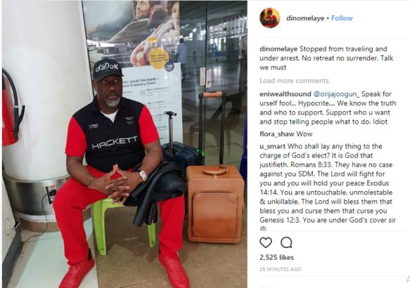 BREAKING!!!Police Arrest Senator Dino Melaye on His Way to Morocco