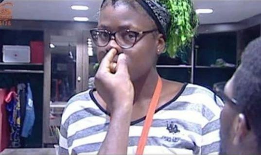 BBNaija: Tobi Spotted Picking Alex's Nose