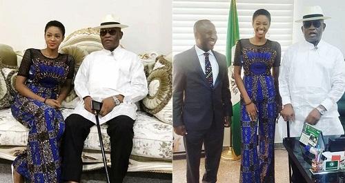 #BBNaija: Photos of Ahneeka as She Meets Bayelsa State Deputy Governor, John Jonah