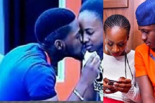 #BBNaija: Tobi caught On Camera Trying To Kiss Anto