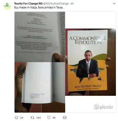 "Nigerians Trolls Ben Bruce for Publishing His Book in Texas unlike His ""Buy Nigeria"" Mantra"