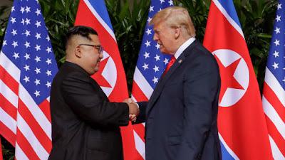 Trump Kim Summit: Trump and Kim Shake Hands