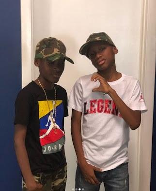 Tuface Idibia's Boys, Nino and Zion, Shares Swagged Up Photos On Instagram Photos]