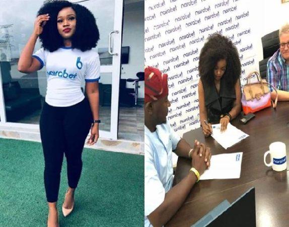 Ex- Big Brother Naija Housemates Cee-C Bags Endorsement Deal with Naira Bet [Photos]