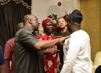 Dino Melaye, Ben Bruce, Godswill Akpabio, Olisa Metuh, Others Visit Deputy Senate President Ike Ekweremadu At His Home [Photos]