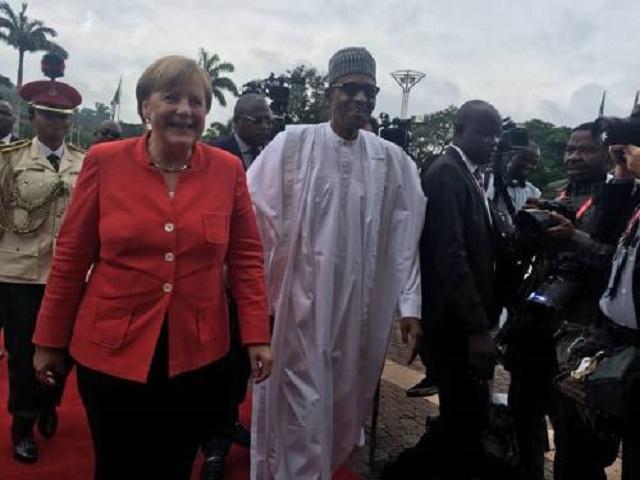 More Photos Of German Chancellor Angela Merkel As She Arrives Nigeria [Photos]