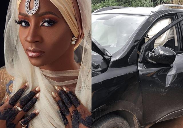 Ex-BBNaija House Mate, Anto, Miraculously Survives Car Crash [Photos]