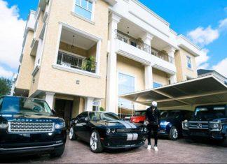 #MondayMotivation; Peter Okoye Flaunts Mansion, Car Fleet to Motivate and Inspire Fans