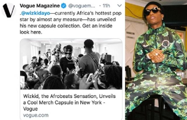Wizkid Is the African Hottest Pop Star - Vogue Declares