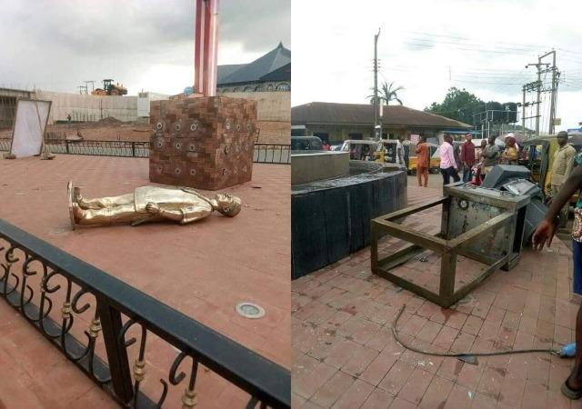 Man Claims he was sent by Holy Spirit, Destroys Ebonyi Govt Properties [photos]