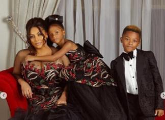 Despite All the Drama, Lola Omotayo-Okoye and Her Kids Dazzle in Beautiful Family Portrait