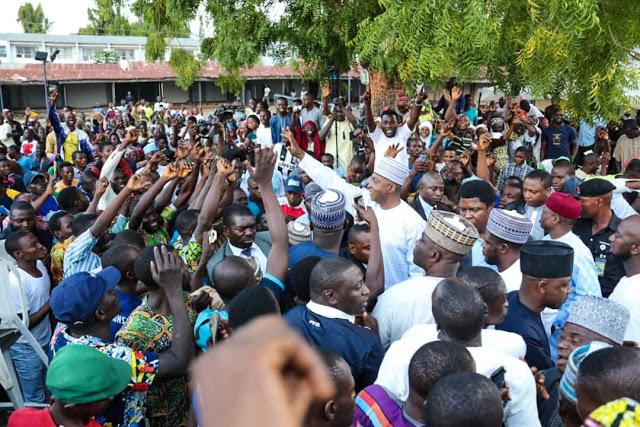 Photos of Senate President Saraki As He Welcomes Thousands of APC Members into PDP