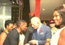 More Photos of BBNaijas's Tobi as He Meet Prince Charles in Ghana
