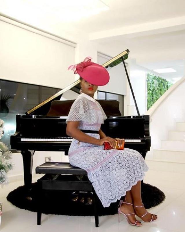 Ex-BBNaija housemate, Alex Sends Fans into Meltdown with Awesome Lavender Dress [Photos]