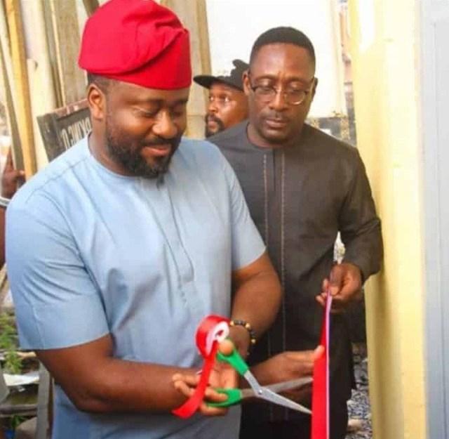 Nigerians Trolls Desmond Elliot Online For Commissioning a Public Toilet [Photos]