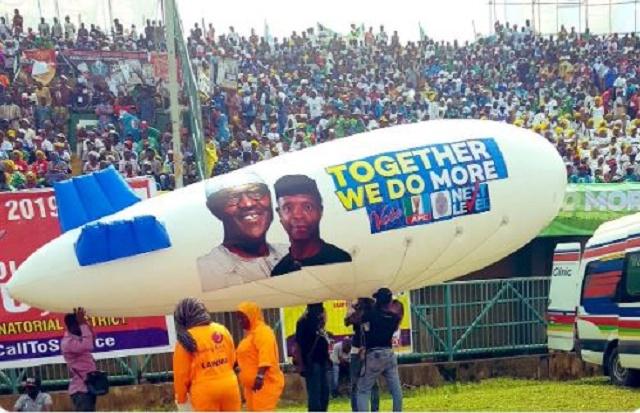 Lagos Stadium full to the brim For President Buhari's Next Level Campaign [Photos]