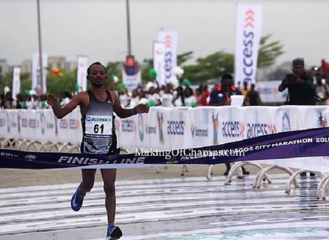Sintayehu Legese, Ethiopian Athlete, Wins 2019 Lagos City Marathon