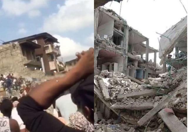 So Sad! Woman Loses 5 Children in Lagos School Building Collapse