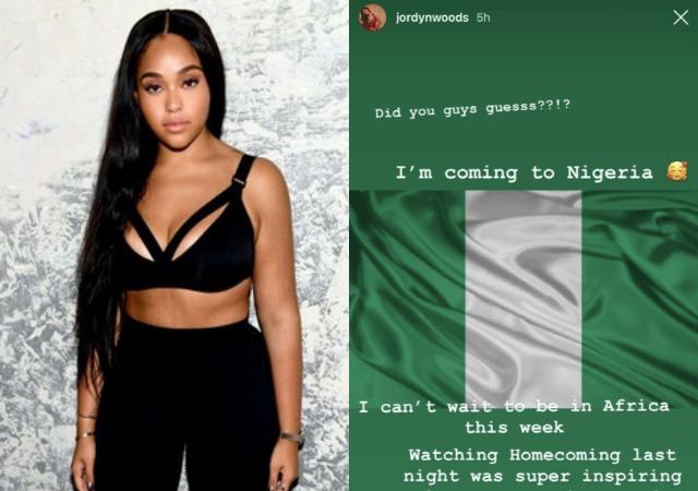 Jordyn Woods Coming To Nigeria This Week
