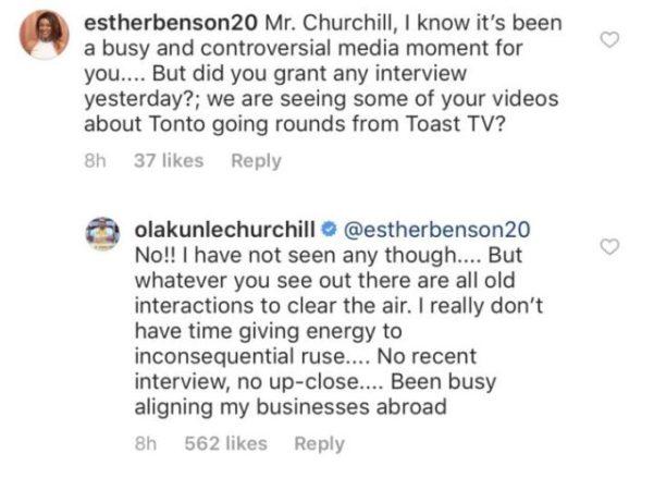 Tonto Dikeh's Ex-Husband Churchill Breaks Silence