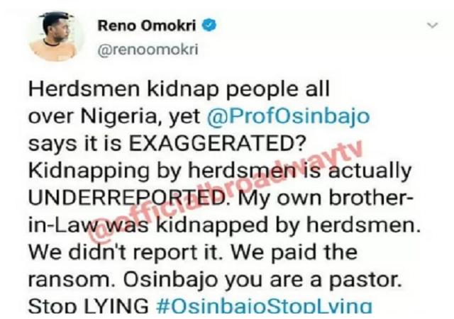 """You're A Pastor, Stop Lying"" – Omokri Slams VP Osinbajo"