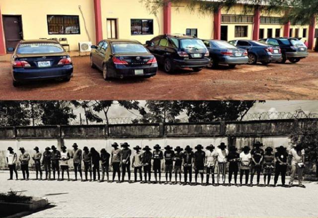 EFCC Parades 27 Suspected Internet Fraudsters in Enugu [Photos]