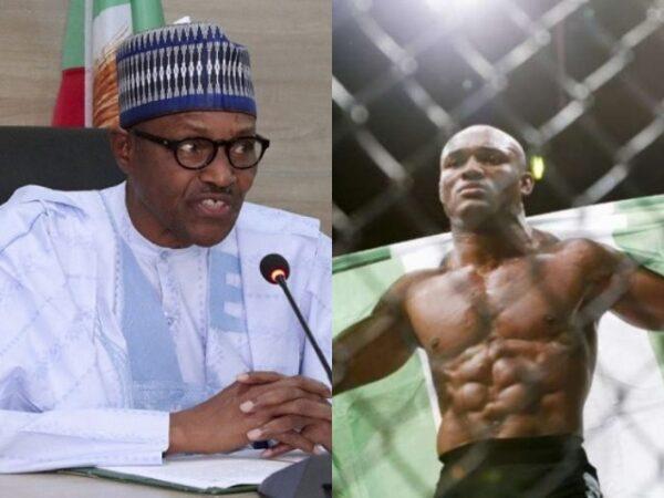 President Buhari Sends His Prayers And Congratulation Massage To UFC Champion, Kamaru Usman