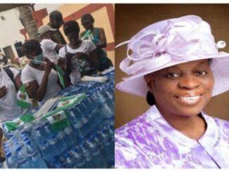 Heart of Gold! RCCG Mummy GO, Foluke Adeboye Sends 3 Trucks of Food to #ENDSARS Protesters