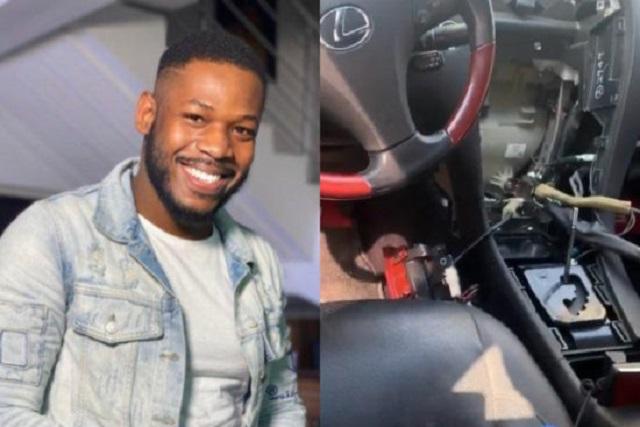 Frodd, Bbnaija Star Laments After Thieves Vandalized His Car (Video)