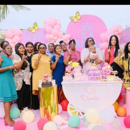 Sinach's Daughter, Rhoda's 1st Birthday Party (Photos)