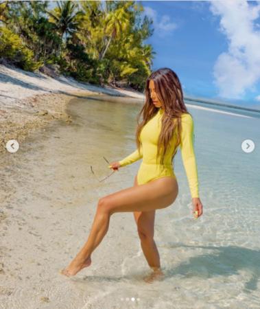 40 Years Old Kim Kardashian Flaunts Her Curves In New Bodysuit Photos